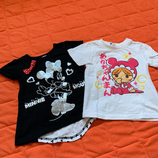 BANDAI - 新品同様❤ディズニーミニー&あかちゃんまんのTシャツ2枚セット100cm