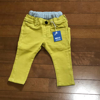 BREEZE - パンツ ズボン キッズ 子ども服 80 BREEZE 黄色