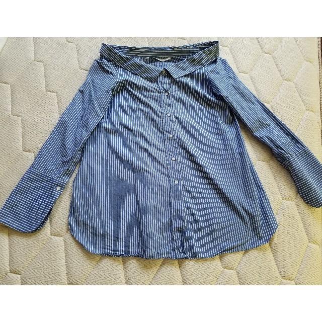 ZARA(ザラ)のあくびちゃん様専用♫ ZARA ポプリンシャツ レディースのトップス(シャツ/ブラウス(長袖/七分))の商品写真
