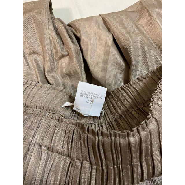 PLEATS PLEASE ISSEY MIYAKE(プリーツプリーズイッセイミヤケ)のプリーツプリーズ フラッフィー ベージュ ブラウン 茶 美品 パンツ サイズ3 レディースのパンツ(カジュアルパンツ)の商品写真