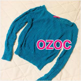 オゾック(OZOC)のオゾック トップス サマーニット 青(ニット/セーター)