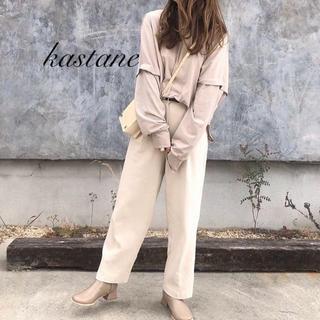 Kastane - 春新作❁カスタネ レイヤード風バックボタンプルオーバー
