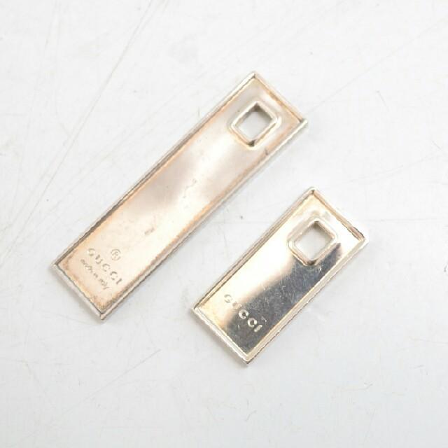Gucci - 早い者勝ち!【USED】GUCCI ロゴプレート ペンダントトップ 大小の通販