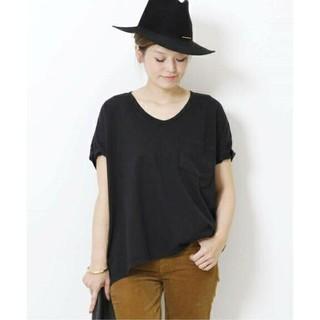 ドゥーズィエムクラス(DEUXIEME CLASSE)のSKARGORN ポケツキワイドTシャツ ブラック(Tシャツ(半袖/袖なし))