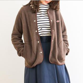 DANTON - 美品☆DANTON ダントンノーカラーフリースジャケット*size34 ブラウン