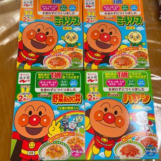 アンパンマン(アンパンマン)のアンパンマン カレー ハヤシ レトルト ミートーソス 野菜あんかけ丼(レトルト食品)