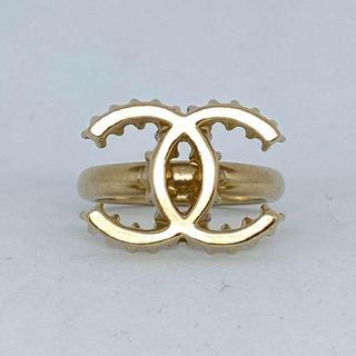 シャネル(CHANEL)の【美品】シャネル ココマーク リング 指輪 ゴールド A14K 約14号(リング(指輪))