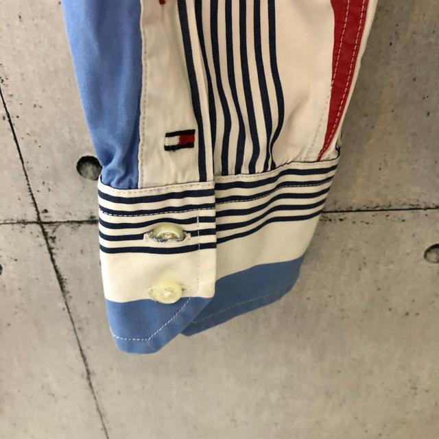 TOMMY HILFIGER(トミーヒルフィガー)の【レア】トミーヒルフィガー ストライプ Bシャツ 長袖 メンズのトップス(シャツ)の商品写真