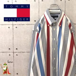 トミーヒルフィガー(TOMMY HILFIGER)の【レア】トミーヒルフィガー ストライプ Bシャツ 長袖(シャツ)
