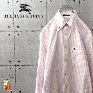 バーバリーブラックレーベル(BURBERRY BLACK LABEL)の【レア】バーバリー ストライプ BDシャツ 長袖(シャツ)