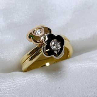 ポンテヴェキオ(PonteVecchio)のポンテヴェキオ k18wg ダイヤモンド フラワー リング(リング(指輪))