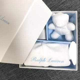 ラルフローレン(Ralph Lauren)の新品 ラルフローレン ギフトボックスセット 白 ベビー baby 赤ちゃん(ロンパース)