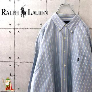Ralph Lauren - 【激レア】90s ラルフローレン BIG SHIRT オックスフォードBDシャツ