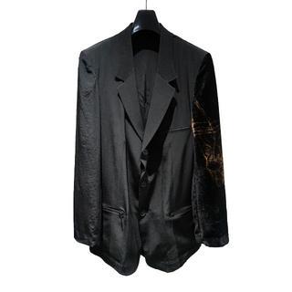 Yohji Yamamoto - <新品>Yohji Yamamoto ジャケット 左袖柄  ベルベット ヨウジ