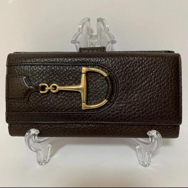 Gucci - 正規品GUCCI レザーWホック長財布(鑑定済)の通販