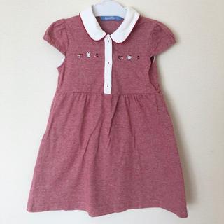 familiar - ファミリア 襟付き 110 ワンピース 赤色