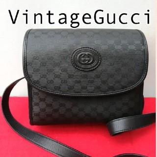 Gucci - 美品!オールドグッチ マイクロGG ビンテージショルダーバッグ ポシェット レア