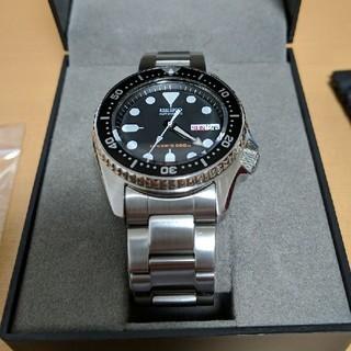 SEIKO - 腕時計 skx013k ブラックボーイ ボーイズ 無垢ベルト 機械式