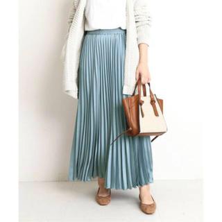 IENA - 新品 サテンプリーツスカート