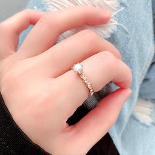💖NEW✨キラキラ✨大粒✨ジルコニア✨指輪🌈アレルギー対応✨エレガント(リング(指輪))