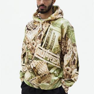 Supreme - L Supreme Bling Hooded Sweatshirt Green