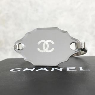 CHANEL - 正規品 シャネル バングル ミラー シルバー ココマーク ロゴ 鏡 ブレスレット