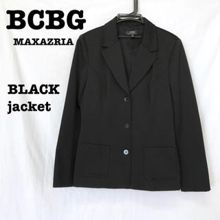 ビーシービージーマックスアズリア(BCBGMAXAZRIA)の美品【 BCBG MAXAZRIA 】 ブラックジャケット テーラードジャケット(テーラードジャケット)