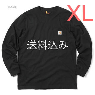 carhartt - 【XL】CARHARTT カーハート K126 ポケット ロンT 黒