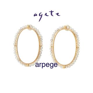 agete - 完売 agete ラブラドライト ピアス * K10 フープピアス カタログ掲載