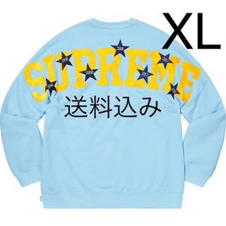 Supreme - 【XL】SUPREME Stars Crewneck スウェット ブルー