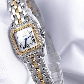 Cartier - 【仕上済 】カルティエ パンテール コンビ ダイヤ レディース 腕時計