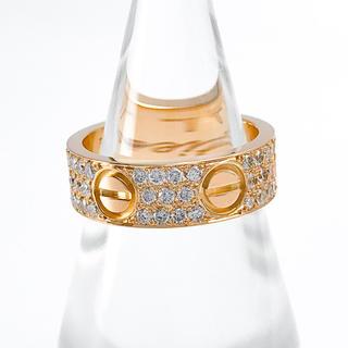 Cartier - 【仕上済】カルティエ ラブリング PG ダイヤ 7号 レディース リング 指輪