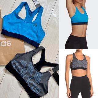adidas - 新品 adidas アディダス スポーツブラ スポブラ ブルー グレー 2点