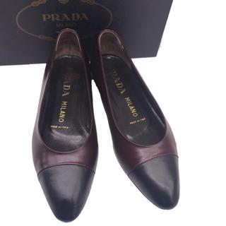 PRADA - PRADA バイカラーパンプスプラダ