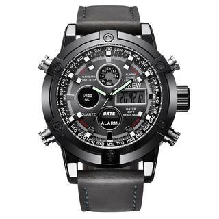DIESEL - 新品★日本未入荷★XlNEWデジタル&アナログ多機能腕時計 レザーベルト 防水
