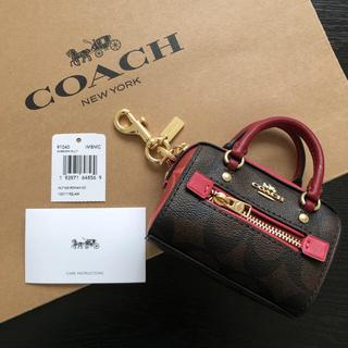COACH - COACH コーチ MLT シグネチャー コインケース キーリング キーホルダー