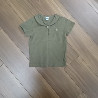 PETIT BATEAU - PETIT BATEAU セーラーカラー半袖シャツ