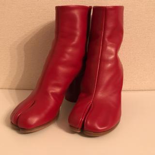 Maison Martin Margiela - メゾン マルタン マルジェラ  足袋 ブーツ 新品未使用 レッド