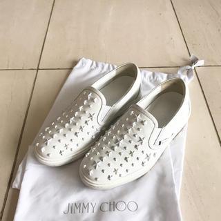 JIMMY CHOO - JIMMY CHOO ジミーチュウ 美品スタッズスリッポン メンズ40