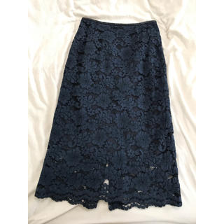 ROPE - ネイビーレーススカート