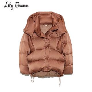 Lily Brown - lily brown ビックフードダウンコート brown