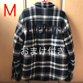 Supreme - supreme quilted arc logo flannel shirt Ꮇ