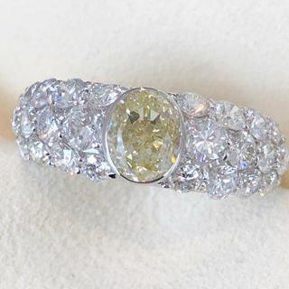 ✨キラキラ✨ダイヤ尽くし❣️ダイヤモンド K18WG リング 指輪 ダイヤ(リング(指輪))