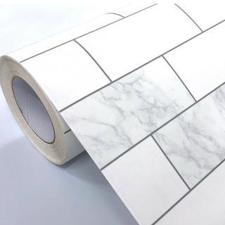 壁紙シール タイル 大理石模様 50cm×3m DBS-30 はがせる壁紙