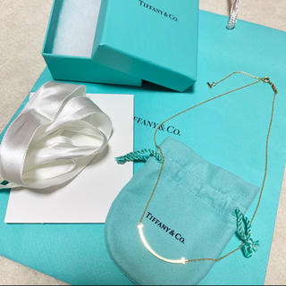 Tiffany & Co. - Tiffany&Co. Tスマイルミニペンダント ネックレス K18