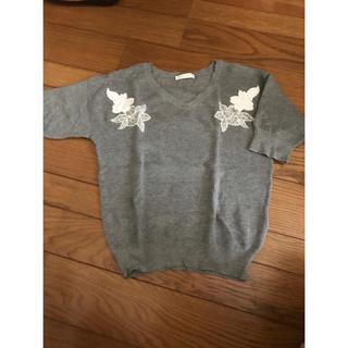 エージーバイアクアガール(AG by aquagirl)のニットTシャツ(Tシャツ(半袖/袖なし))