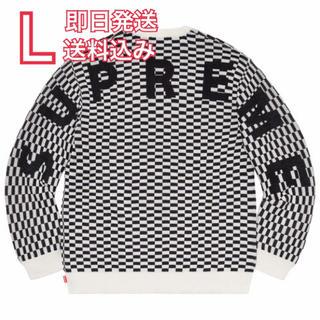 Supreme - L supreme Back Logo Sweater アーチロゴ