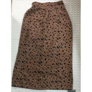 しまむら - しまむら ダルメシアン柄 Aラインスカート  Mサイズ