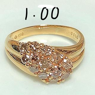 k18 18金 ダイヤモンド 1カラット 1.00ct 指輪 短期出品(リング(指輪))