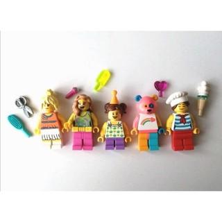 Lego - レゴ ミニフィグ 女の子 カラフル 5体セット くま テディベア 子ども 子供